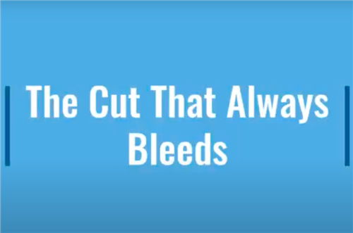 The cut that bleeds