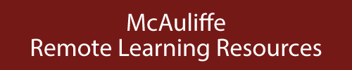 McAuliffe Remote Learning Resources Page